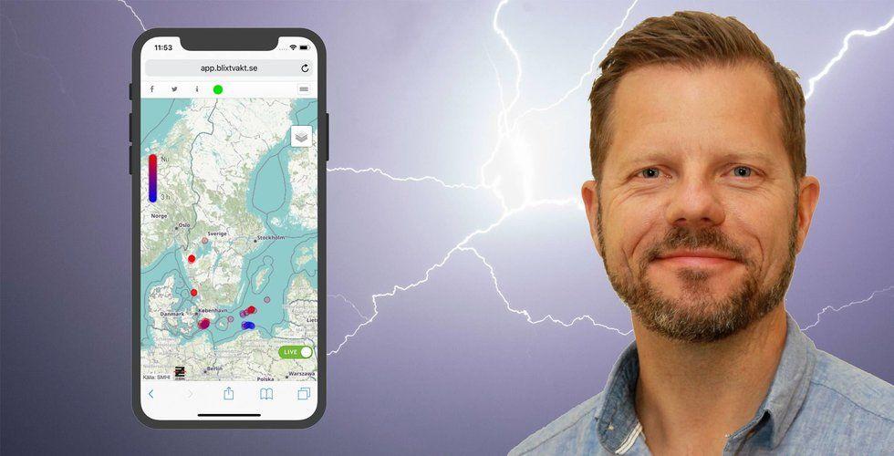 Sommarens extremvärme ledde till enormt intresse för appen Blixtvakt