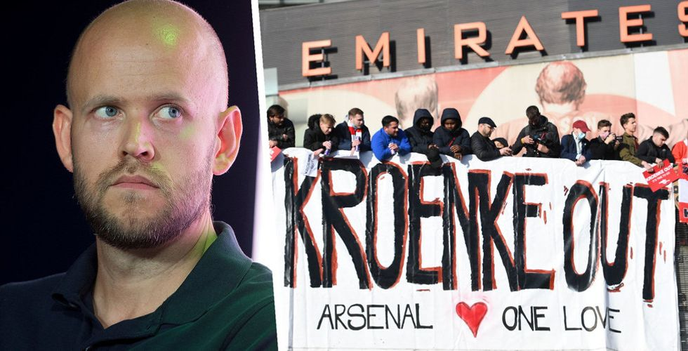 Daniel Ek får nobben av Arsenals ägare – men ger sig inte