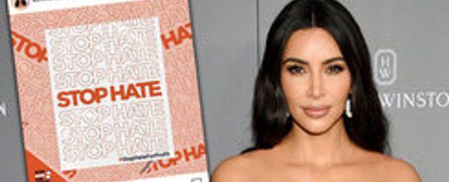 Kim Kardashian West uppmanar till bojkott av Facebook och Instagram