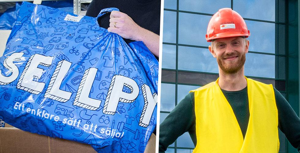 """H&M-bolaget Sellpy fördubblar lagerutrymmet: """"Efterfrågan har växt snabbt"""""""