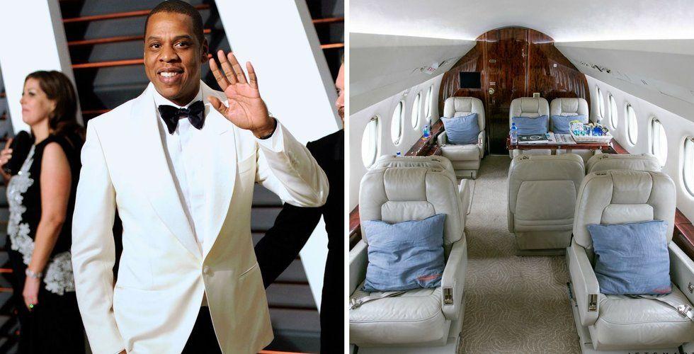 """Jay-Z:s """"Uber för privatplan"""" tar in nära en miljard i kapital"""