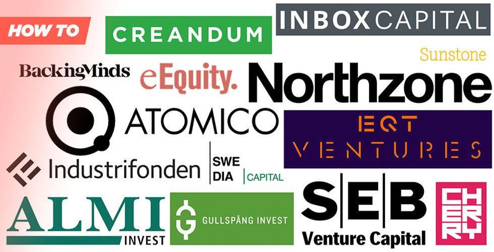 Lista från A till Ö: Här är riskkapitalbolagen som investerar i startups och tech i Sverige