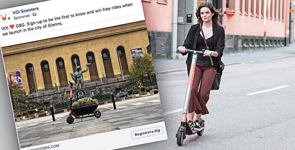 Elsparkcykelbolaget Voi ställer siktet på Göteborg