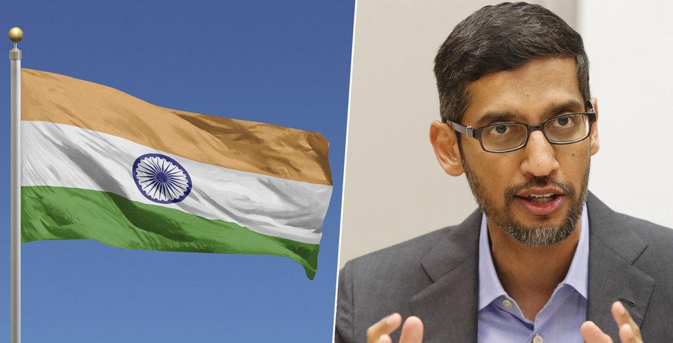 Google ska investera 10 miljarder dollar i Indien