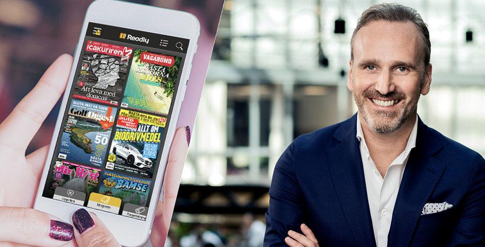 Magasintjänsten Readly tar in 100 miljoner - backas av Swedbank Robur