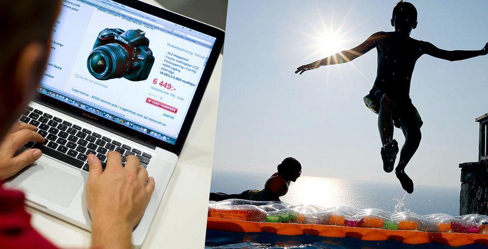 """Sämre framtidstro bland e-handlare: """"Brukar gå svagare under sommaren"""""""