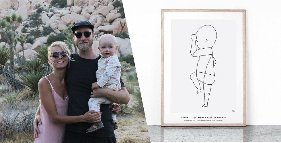 Paret Westman säljer bebisposters på nätet för miljoner – nu lanserar de klädmärket Schmeck