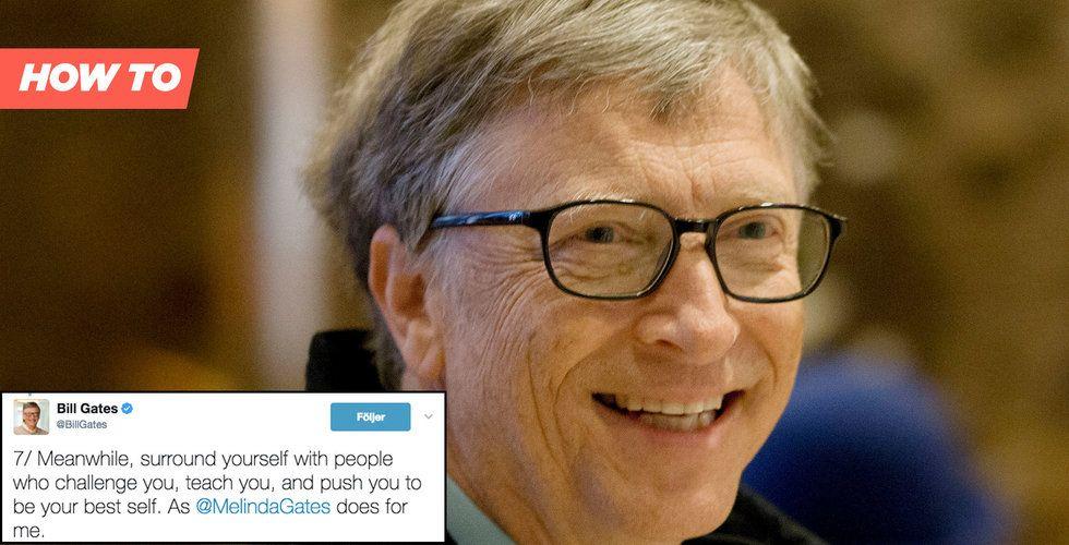 Bill Gates 7 raka råd om vad du verkligen borde göra med ditt liv