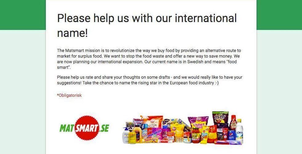 Breakit - Matsmart letar nytt globalt namn - vill ha hjälp av allmänheten