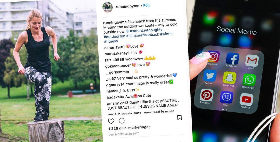 Instagram rensar bort fejkkonton och fejkade reaktioner