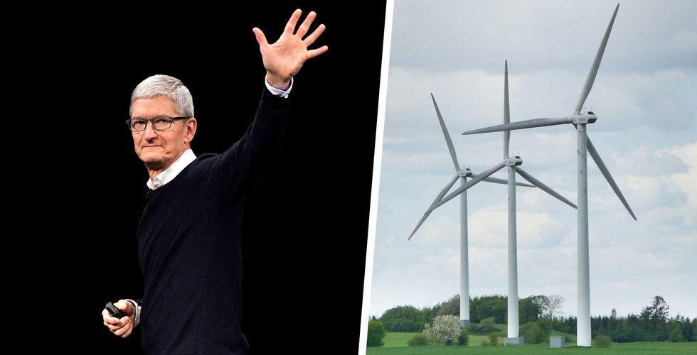 Apple överträffar sina mål inom förnybar energi