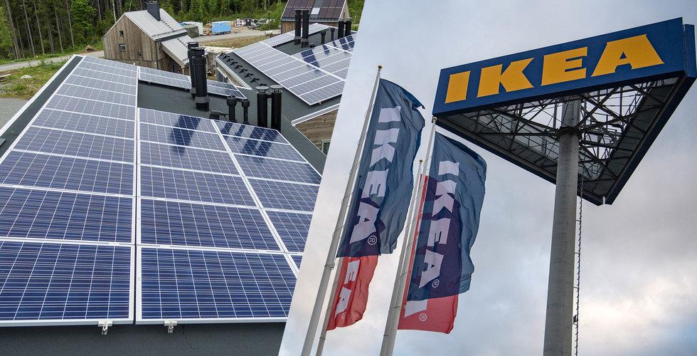 Ikeas Ingka-koncern producerar mer förnybar el än som används till verksamhet