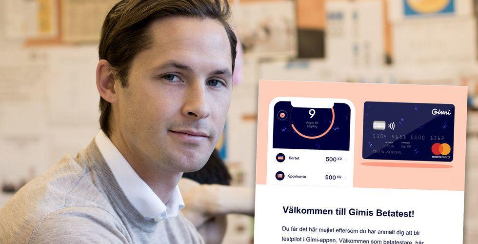Philip Haglunds sparapp Gimi växlar upp – förbereder betalkort för barn