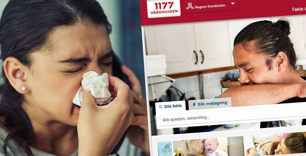 Miljontals inspelade samtal till 1177 Vårdguiden låg tillgängliga på nätet