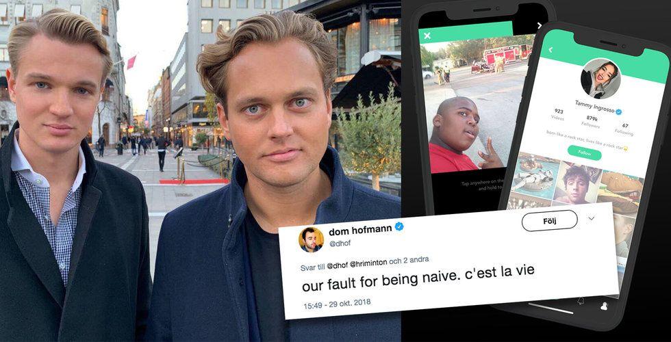 """Vines grundare Dom Hofmann varnar för svenska appen V2: """"Imitation"""""""