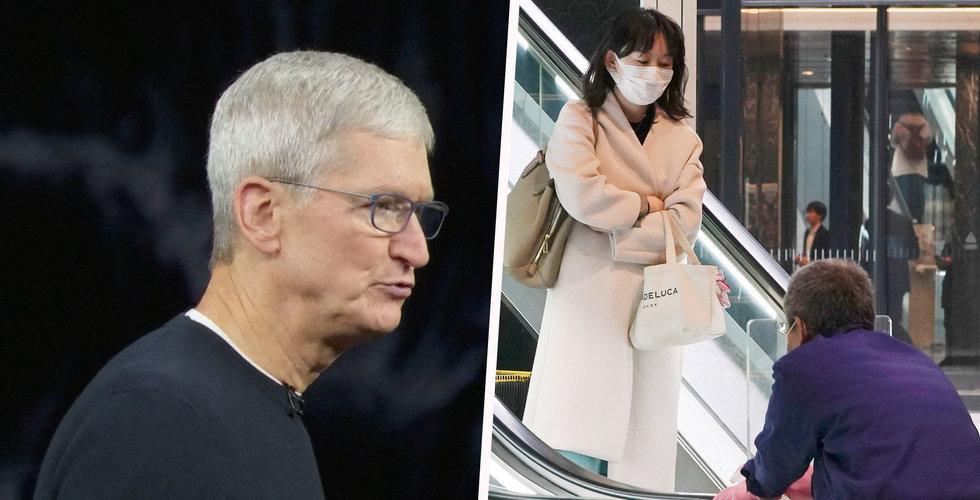 Apples Iphone-försäljning mer än halverades i Kina under februari