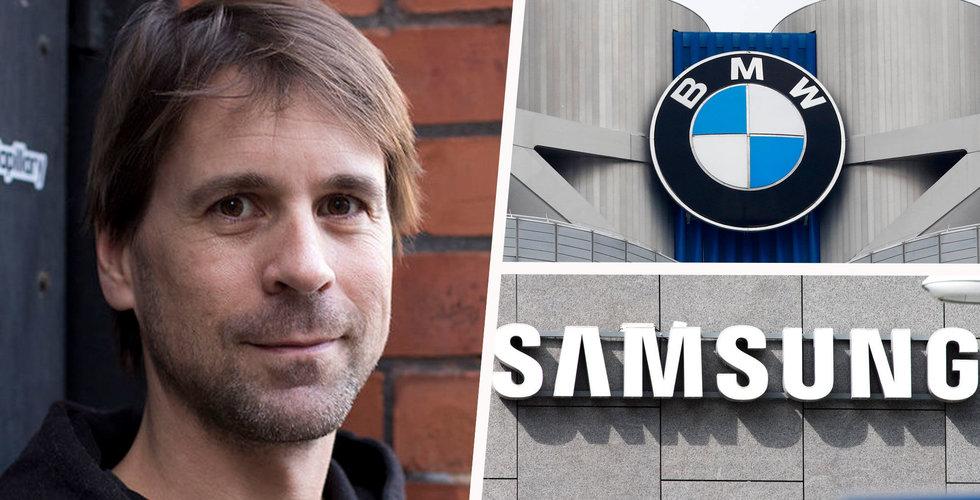 BMW och Samsung satsar 126 miljoner på skånska startupen