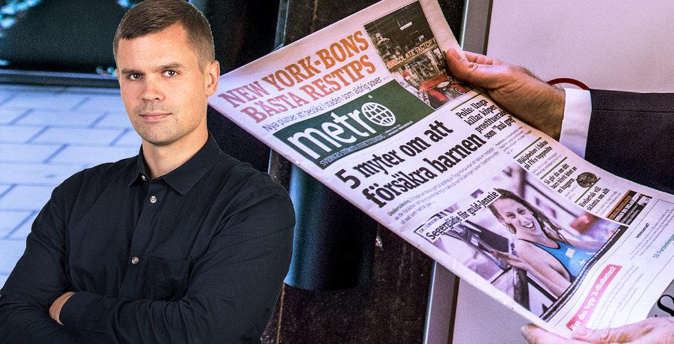 Mats Qvibergs rea-köp av Metro visar (gammel)mediernas kris