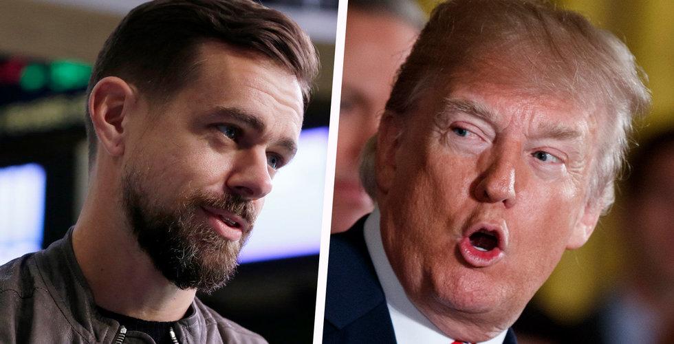 Trump och Twitters vd Jack Dorsey möttes i Vita huset