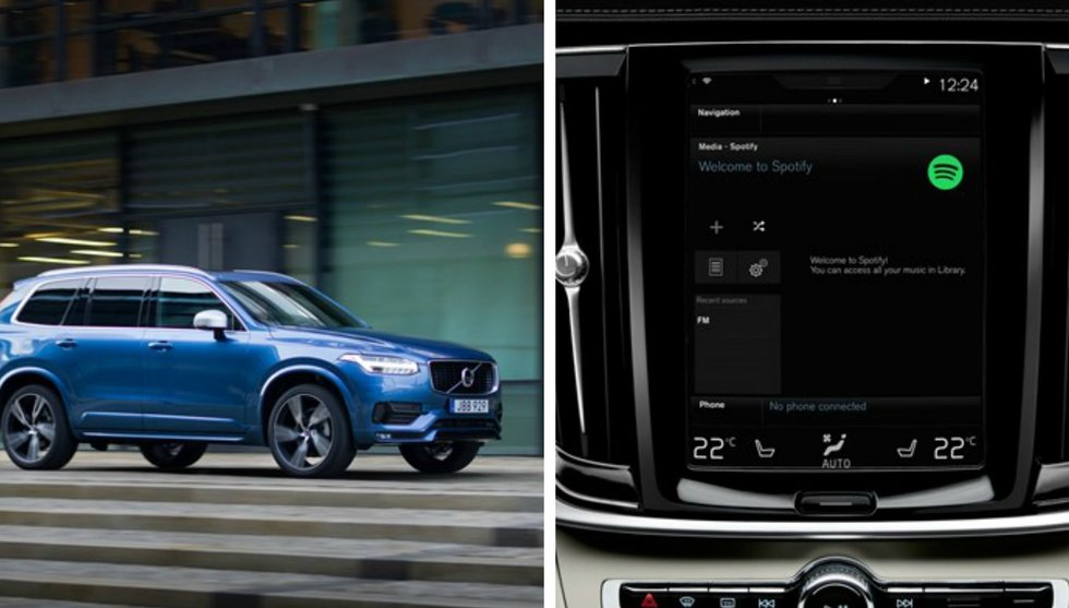 Breakit - Volvo i samarbete med Spotify - streamingtjänsten in i nya bilarna