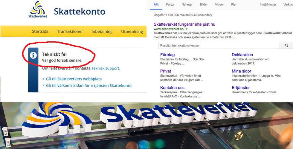 Breakit - Skatteverkets sajt låg nere – i två dygn