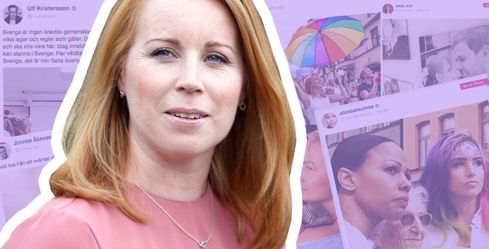 Partiledarna som är störst på Facebook – Annie Lööf regerar Instagram