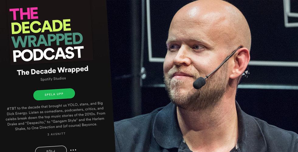 """Spotify spinner vidare på populära funktionen – lanserar podcasten """"the decade wrapped"""""""