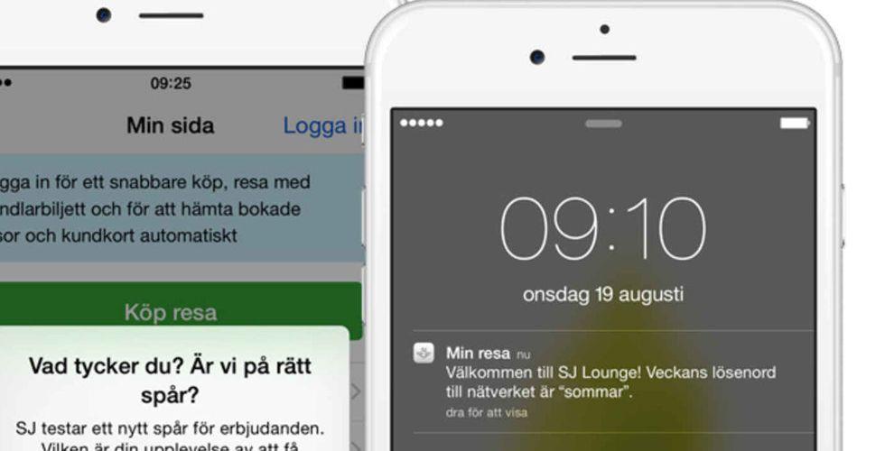 SJ tar hjälp av svensk startup och Ibeacons för att charma kunderna