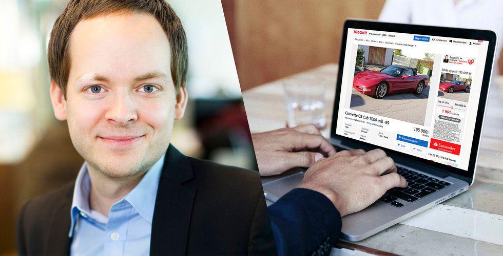 Blocket om hotet från Wayke: Vi säljer fortfarande över en bil i minuten
