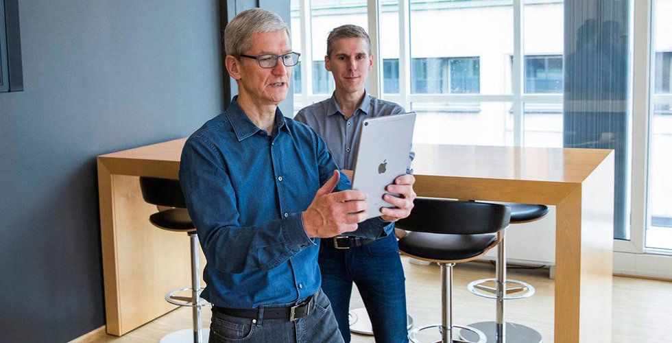 Han fick oväntat besök – av Apple-vdn Tim Cook