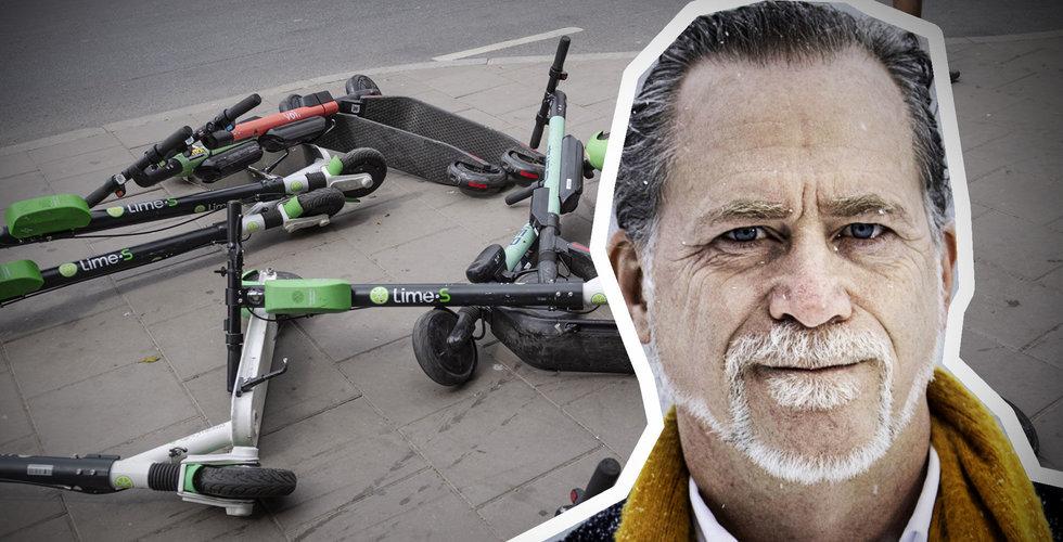 """Över 20.000 elsparkcyklar i Stockholm: """"På tok för många"""""""