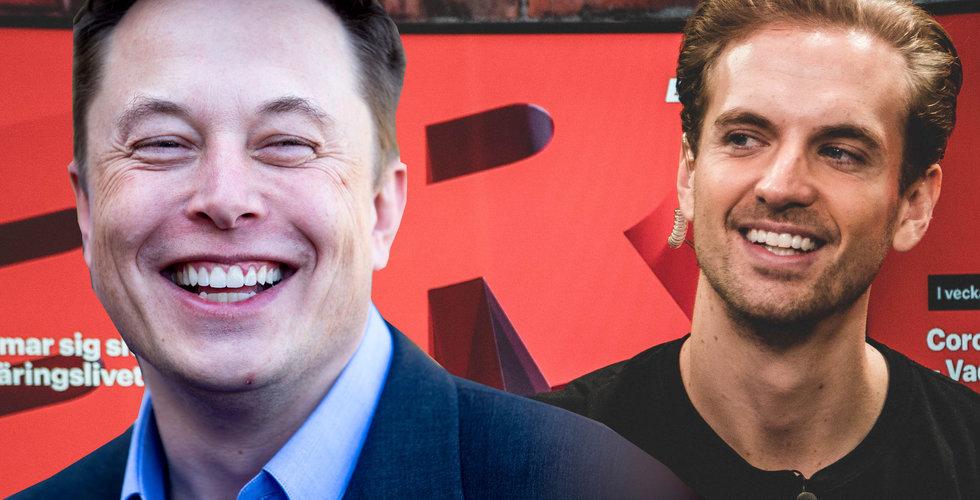 """Startupgrundaren om middagen med Musk: """"Drack upp mitt vin snabbt"""""""