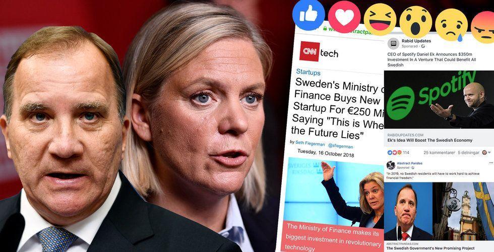 Facebook tjänar pengar på lögner om Daniel Ek – Facebook-bluffen utreds av regeringskansliet
