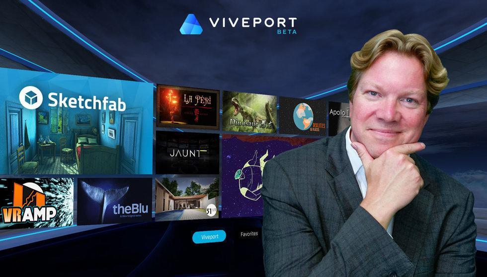 Rikard Steibers HTC lanserar butik för VR-appar - men utan spel