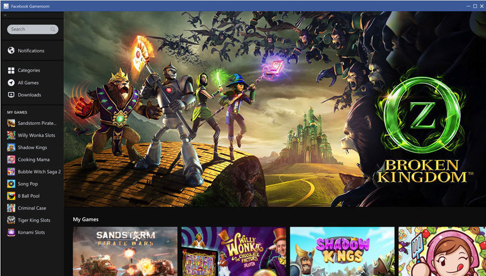 Facebook senaste drag – lanserar plattform för PC-spel