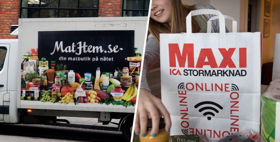 Breakit - Ica utmanar Mathem – vill bli störst på mat på nätet
