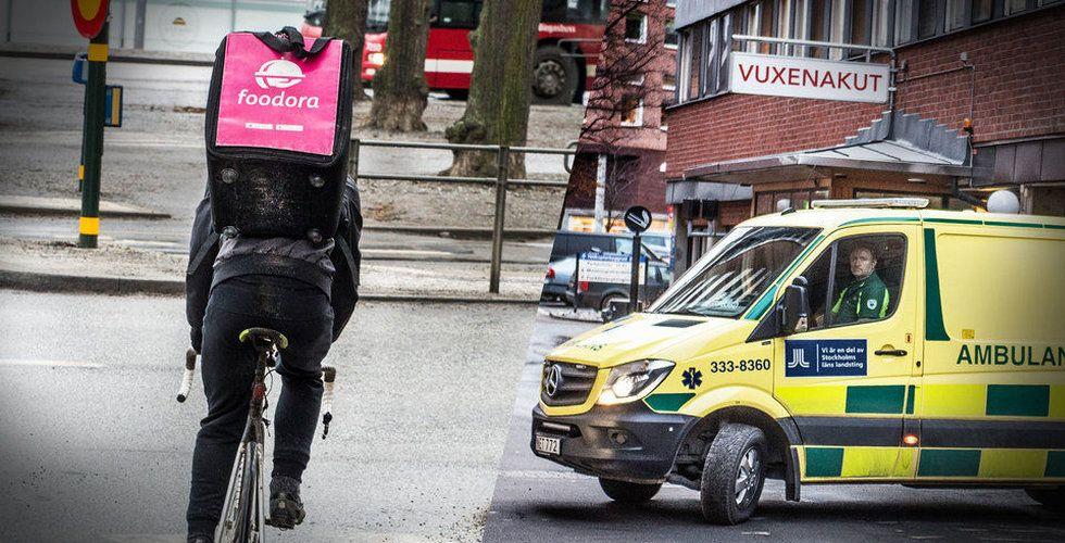 Cykelbudet blev påkört – förundersökning inledd mot Foodora
