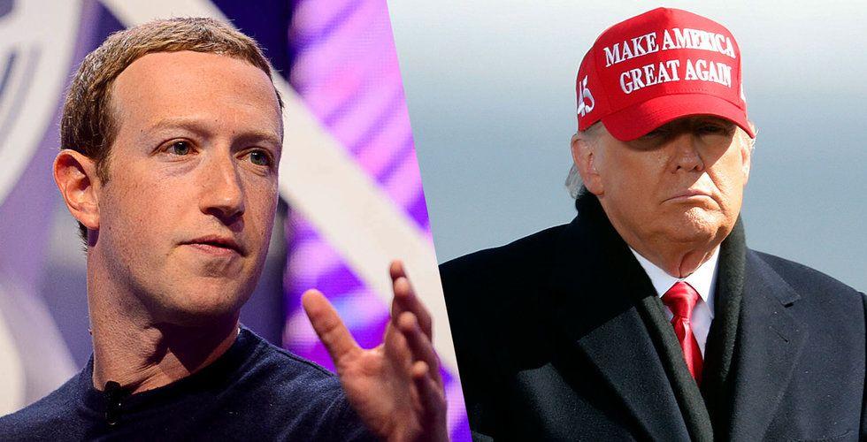 """Zuckerberg stänger av Trump – förklarar i öppet inlägg: """"För stora risker"""""""