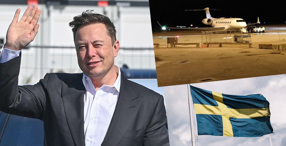 Ögonvittnet: Elon Musk är i Sverige – åkte raka vägen till ett slott