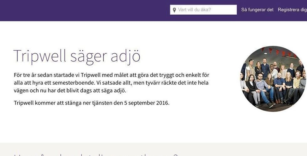 Breakit - Schibsted lägger ner Tripwell