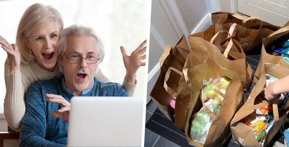 E-handelns tillväxt bromsar in – mat på nätet har exploderat