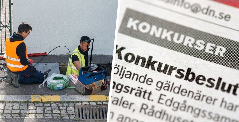 Rekordfå svenska konkurser i april