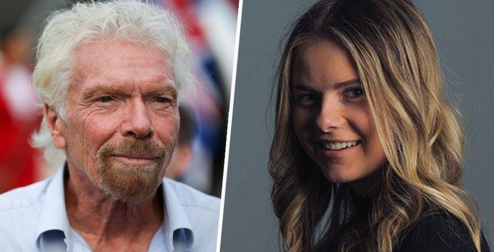 Ida Johansson korades till vinnare i Wise Top 20 under 20, där kändisentreprenören Richard Branson satt i juryn.  Foto: TT/Johfors Productions/Fotomontage