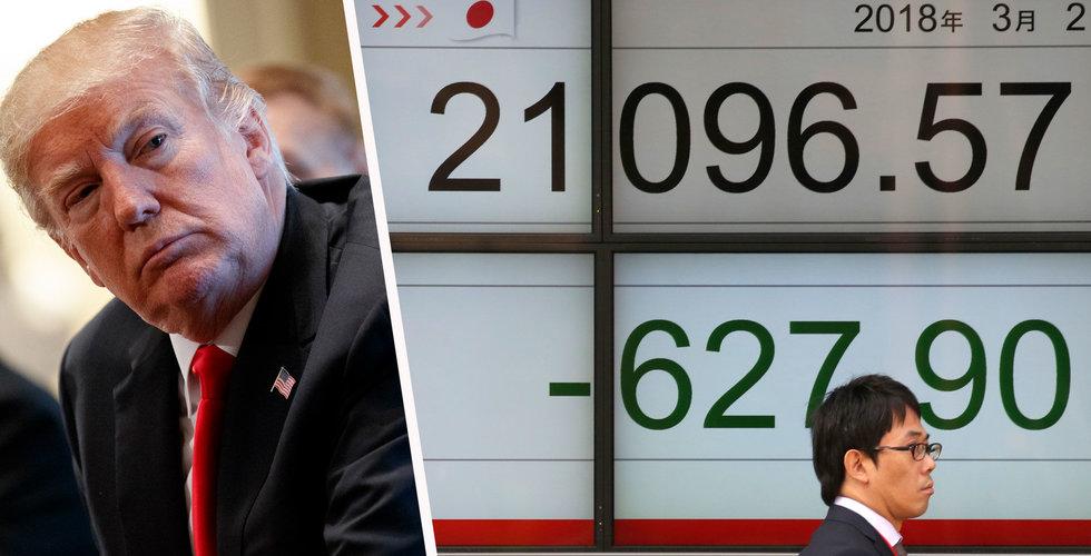 Breakit - Trumps tullar sänkte Asien-börserna
