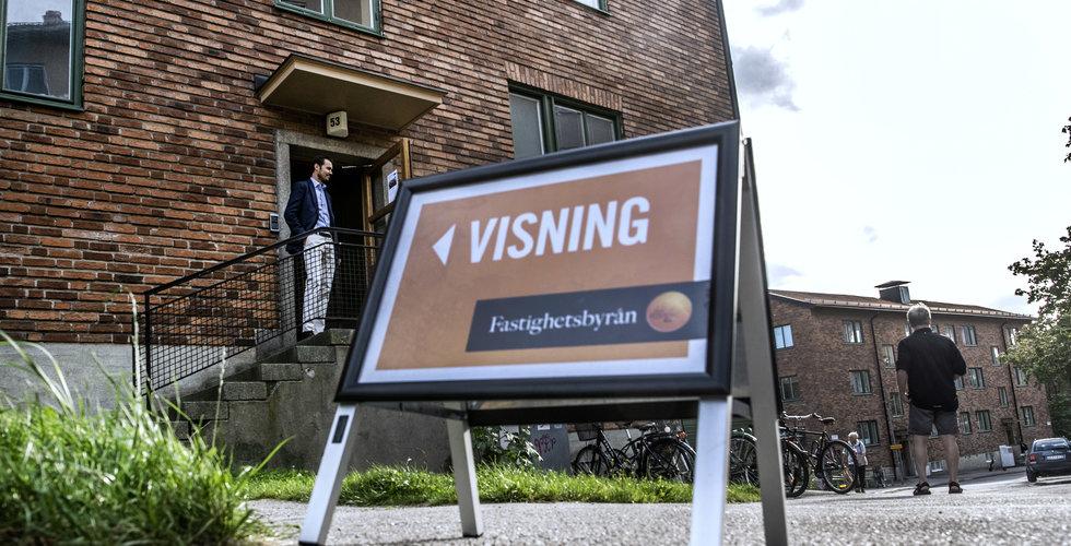 Priserna på bostäder stiger i Sverige