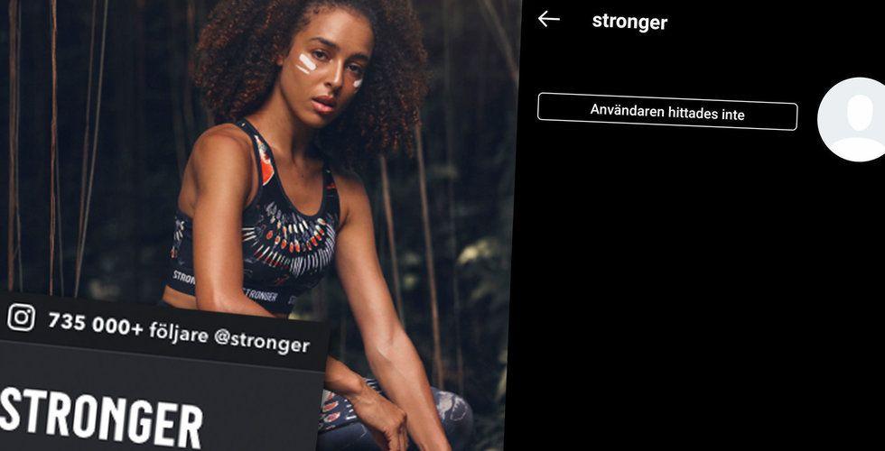 Strongers gigantiska Insta-konto försvann – nu är det uppe igen