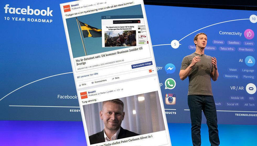 Breakit - Facebook ändrar i sin algoritm - för att motverka klickjakten