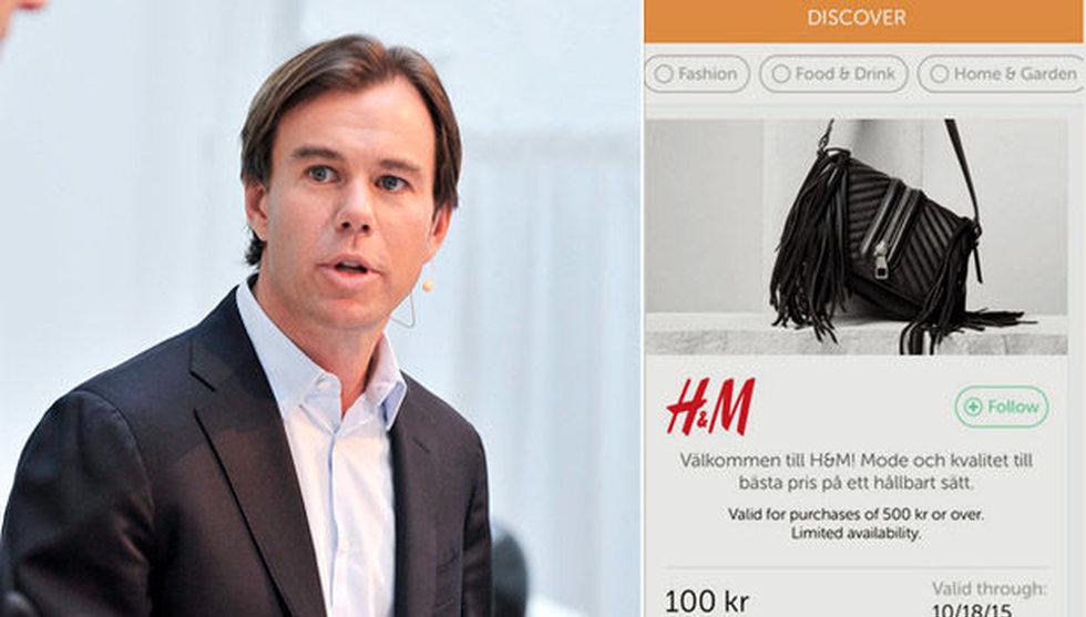Efter oväntade investeringen - nu pushar H&M erbjudanden i Wrapp