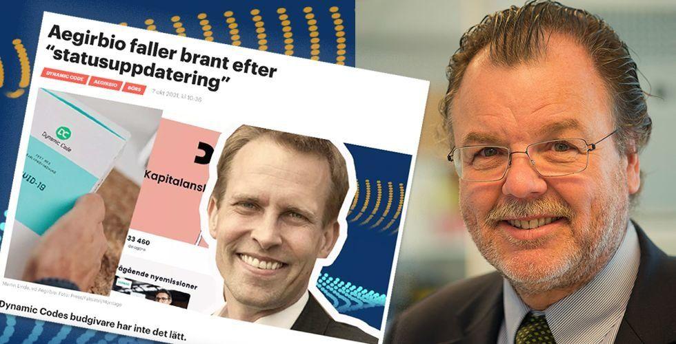 Martin Linde, vd Aegirbio, Anders Ingvarsson, styrelseordförande. Foto: Press/Faksimil/Montage