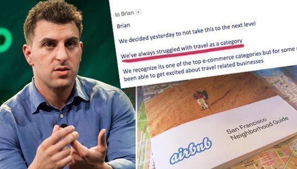 Breakit - Airbnb-grundare publicerar svar från finansiärer som dissat honom